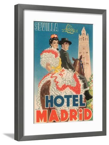 Hotel Madrid--Framed Art Print