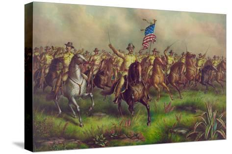 Rough-Riders, Col. Theodore Roosevelt, U.S.V. Commander--Stretched Canvas Print