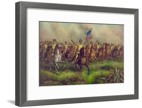 Rough-Riders, Col. Theodore Roosevelt, U.S.V. Commander--Framed Art Print