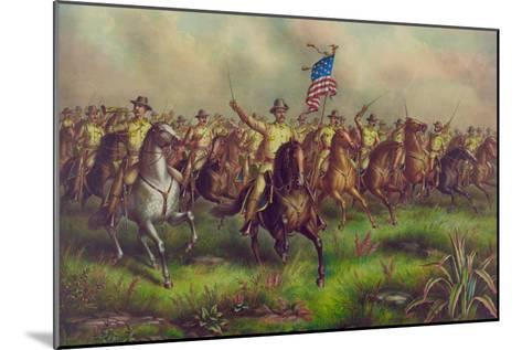 Rough-Riders, Col. Theodore Roosevelt, U.S.V. Commander--Mounted Art Print