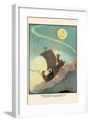 Wynken, Blynken, and Nod Sailed Off in a Wooden Shoe-Eugene Field-Framed Art Print