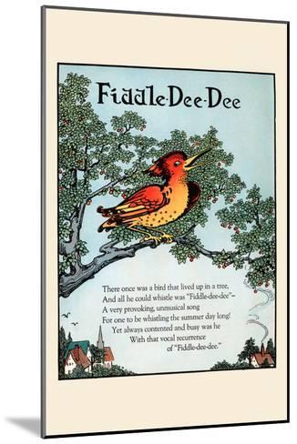 Fiddle Dee Dee-Eugene Field-Mounted Art Print