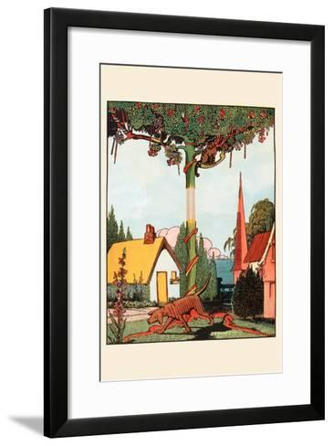 Gingerbread Dog Looking for the Cat-Eugene Field-Framed Art Print