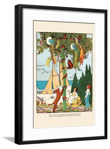 The Gingerbread Dog Chases the Cat and Birds-Eugene Field-Framed Art Print