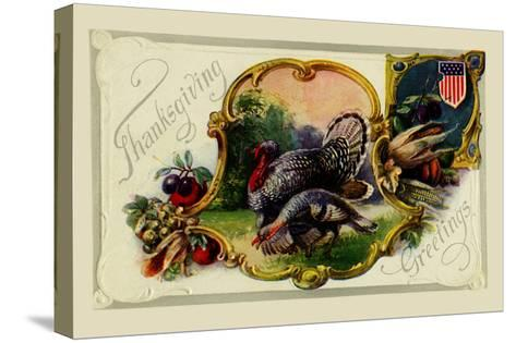 Thanksgiving Greetings--Stretched Canvas Print