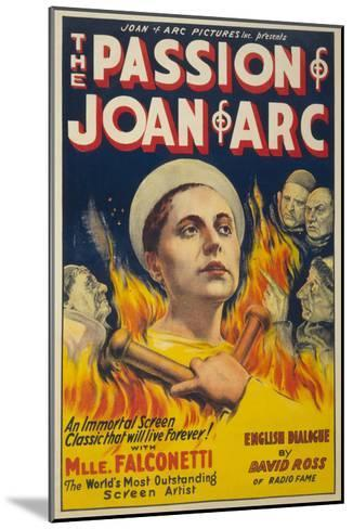 The Passion of Joan of Arc- Eloquent Press-Mounted Art Print