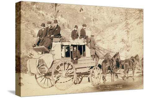 The Deadwood Coach-John C^H^ Grabill-Stretched Canvas Print