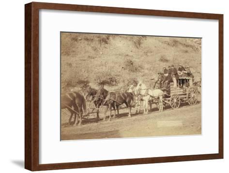 The Last Deadwood Coach-John C^H^ Grabill-Framed Art Print