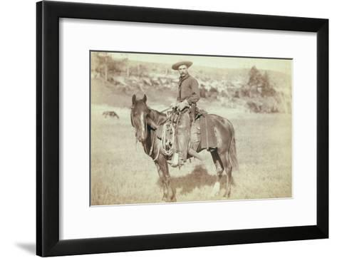 The Cow Boy-John C^H^ Grabill-Framed Art Print