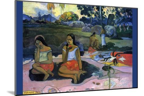 Nave Nave Moe-Paul Gauguin-Mounted Art Print