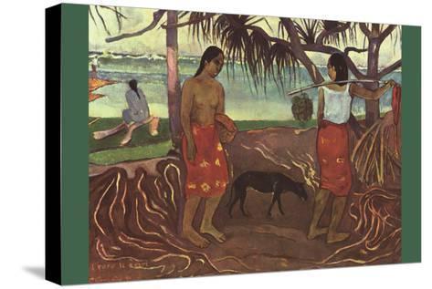 Raro Te Ouiri-Paul Gauguin-Stretched Canvas Print