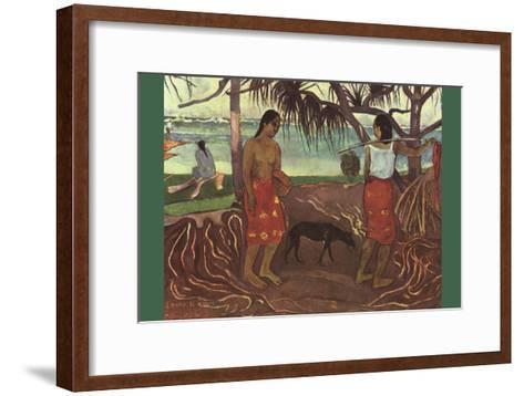 Raro Te Ouiri-Paul Gauguin-Framed Art Print
