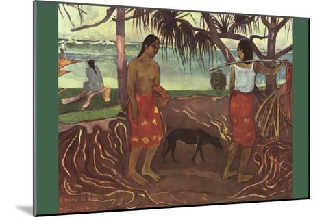 Raro Te Ouiri-Paul Gauguin-Mounted Art Print