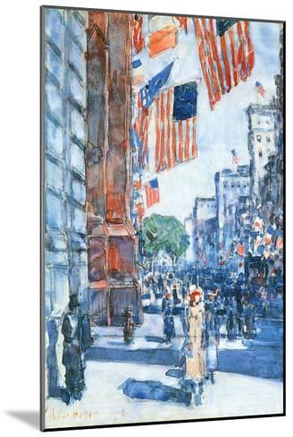 Flags, Fifth Avenue-Childe Hassam-Mounted Art Print