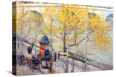 Pont Royal, Paris-Childe Hassam-Stretched Canvas Print