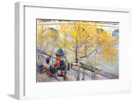 Pont Royal, Paris-Childe Hassam-Framed Art Print