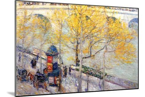 Pont Royal, Paris-Childe Hassam-Mounted Art Print