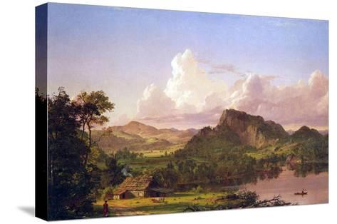 At Home on the Lake-Frederic Edwin Church-Stretched Canvas Print