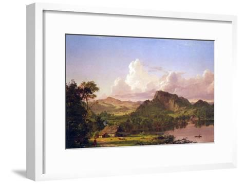 At Home on the Lake-Frederic Edwin Church-Framed Art Print