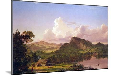 At Home on the Lake-Frederic Edwin Church-Mounted Art Print