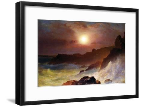 Coast Scene, Mount Desert-Frederic Edwin Church-Framed Art Print