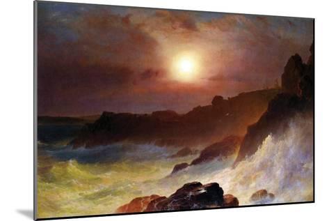 Coast Scene, Mount Desert-Frederic Edwin Church-Mounted Art Print