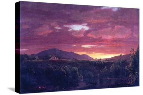 Dusk (Sunset)-Frederic Edwin Church-Stretched Canvas Print