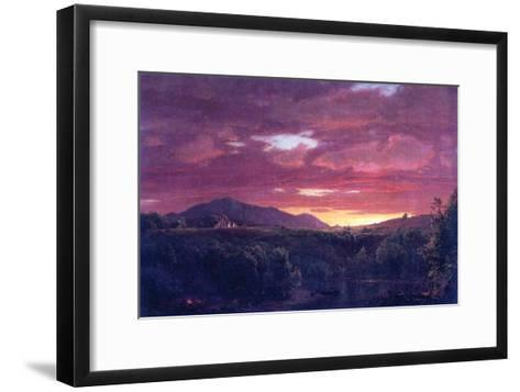 Dusk (Sunset)-Frederic Edwin Church-Framed Art Print