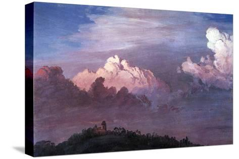 Olana in the Clouds-Frederic Edwin Church-Stretched Canvas Print