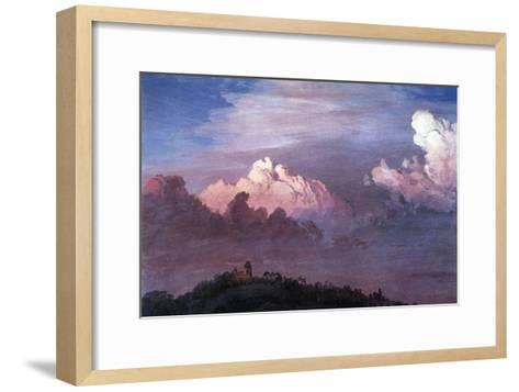 Olana in the Clouds-Frederic Edwin Church-Framed Art Print