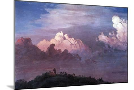 Olana in the Clouds-Frederic Edwin Church-Mounted Art Print