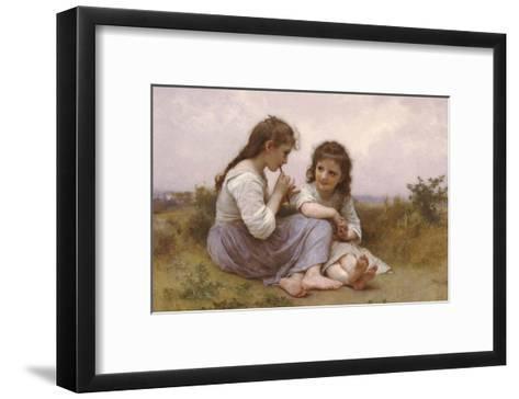 A Childhood Idyll-William Adolphe Bouguereau-Framed Art Print