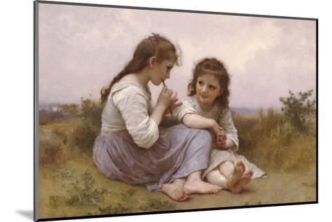 A Childhood Idyll-William Adolphe Bouguereau-Mounted Art Print