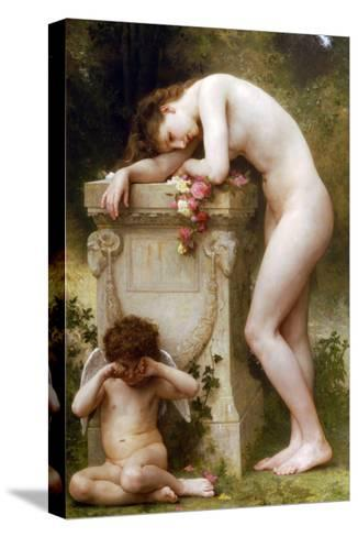 Elegy-William Adolphe Bouguereau-Stretched Canvas Print
