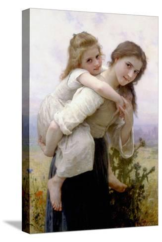 Not Too Much to Carry-William Adolphe Bouguereau-Stretched Canvas Print
