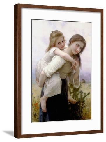 Not Too Much to Carry-William Adolphe Bouguereau-Framed Art Print