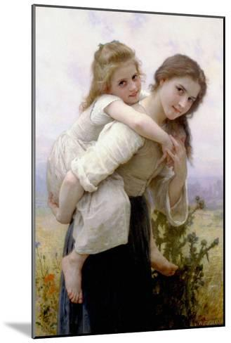 Not Too Much to Carry-William Adolphe Bouguereau-Mounted Art Print