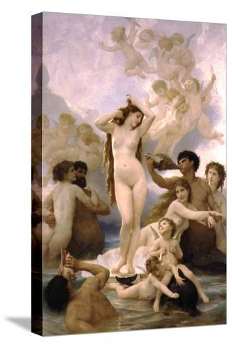 The Birth of Venus-William Adolphe Bouguereau-Stretched Canvas Print