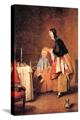 The Morning Toilet-Jean-Baptiste Simeon Chardin-Stretched Canvas Print