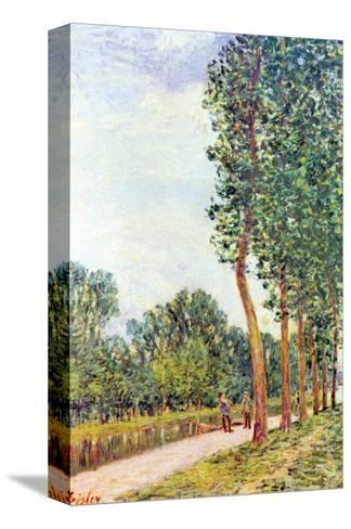 Banks of the Loing in Moret-Alfred Sisley-Stretched Canvas Print