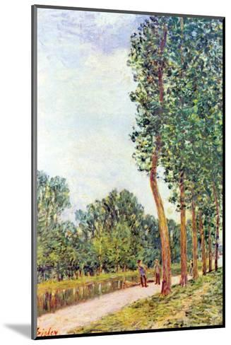 Banks of the Loing in Moret-Alfred Sisley-Mounted Art Print
