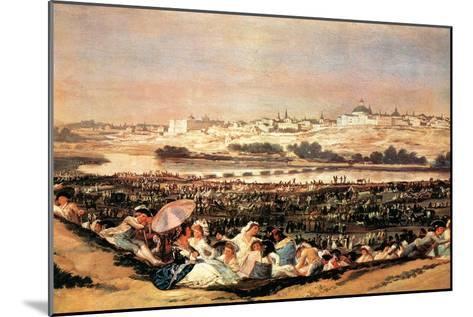 Folk Festival at the San Isidro-Day-Francisco de Goya-Mounted Art Print