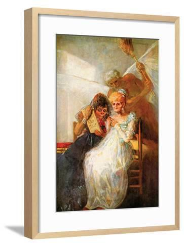 Past and Present, Then and Now-Francisco de Goya-Framed Art Print