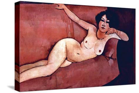 Act on a Sofa (Almaiisa)-Amedeo Modigliani-Stretched Canvas Print