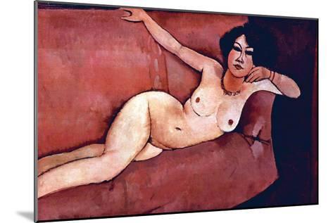 Act on a Sofa (Almaiisa)-Amedeo Modigliani-Mounted Art Print