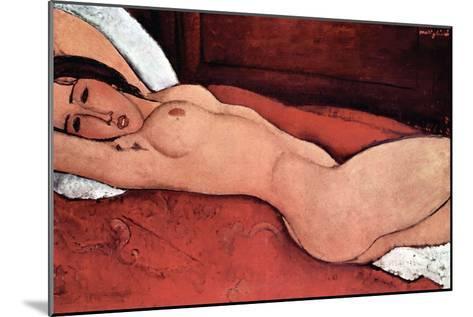 Nude-Amedeo Modigliani-Mounted Art Print