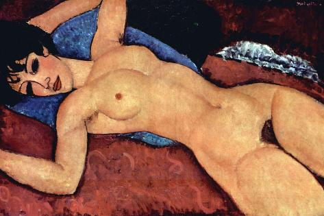 Reclining Nude-Amedeo Modigliani-Stretched Canvas Print