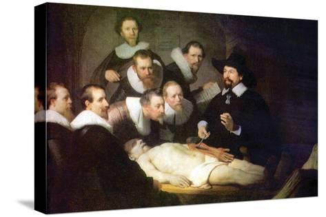 Anatomy of Dr. Tulp-Rembrandt van Rijn-Stretched Canvas Print