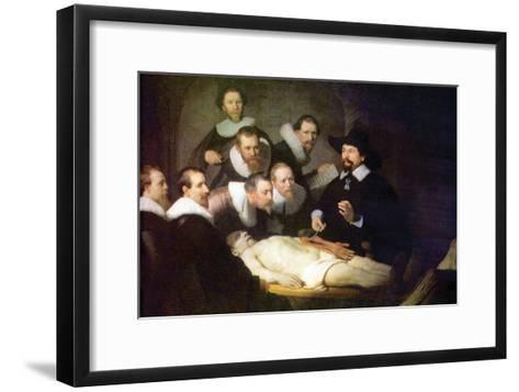 Anatomy of Dr. Tulp-Rembrandt van Rijn-Framed Art Print