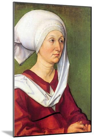 Portrait of Barbara Durer, Born Holper-Albrecht D?rer-Mounted Art Print